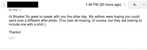 first email